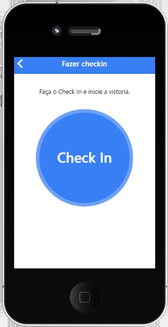Tela check-in do APP Inspeção e Vistorias Inspeção.Pro