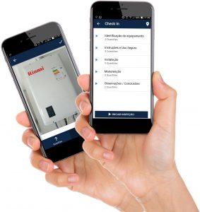 Telas do aplicativo Inspeção Pro